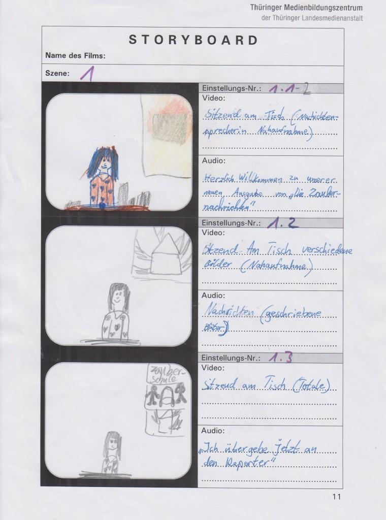 Storyboard Zauberwald 1