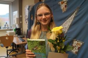 Jule, Siegerin des Vorlesewettbewerbs 2017
